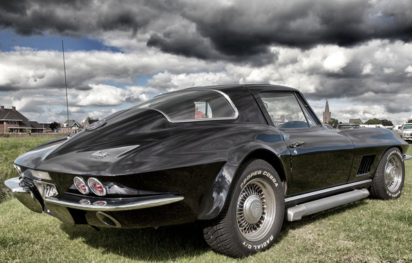 Картинка дизайн, corvette, мускул кар, chevrolet