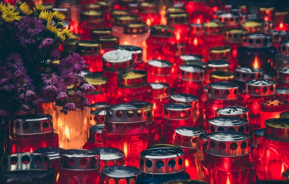 Картинка грусть, праздник, свечи