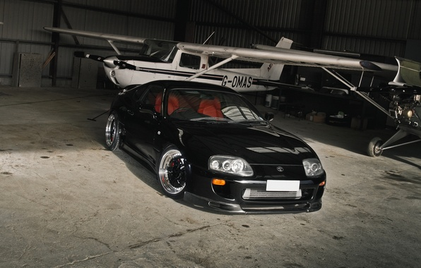 Картинка car, обоя, тюнинг, черная, supra, drift, автомобиль, black, japan, style, toyota, jdm, wallpapers, nation, супра, …