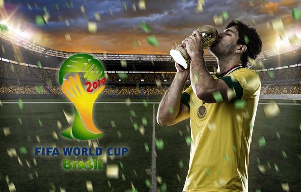 Картинка футбол, logo, Бразилия, football, flag, кубок мира, World Cup, Brasil, FIFA, 2014