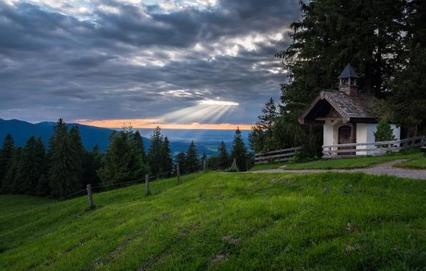 Картинка горы, Германия, Бавария, Альпы, часовня, Germany, Bavaria, Bavarian Alps, Баварские Альпы, Tegernsee, Тегернзе