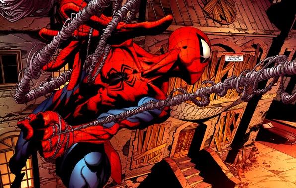 Картинка Marvel, комикс, comics, человек паук, spider man, superhero, супер герой