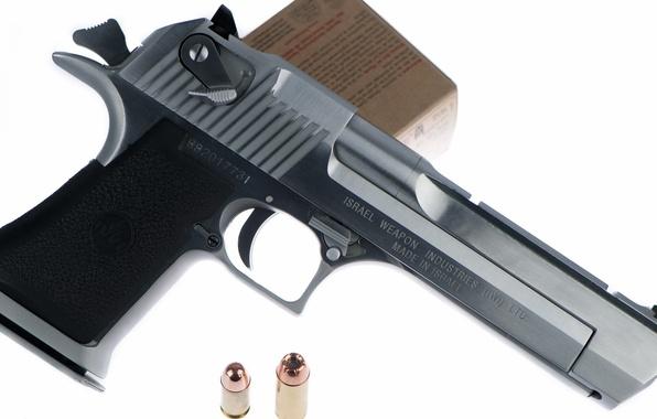 Картинка пистолет, оружие, патроны, Desert Eagle
