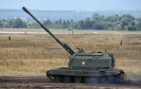Картинка самоходная, гаубица, 152-мм, российская, дивизионная, «Мста-С», MSTA-S