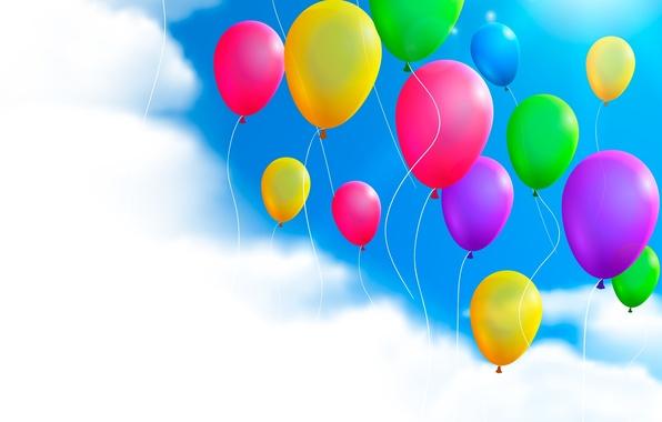 шарики в небе картинки