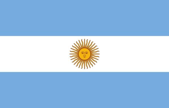 Картинка white, blue, Argentina, sun, flag