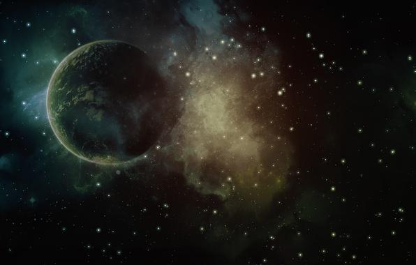 Картинка космос, звезды, вселенная, краски, планета, colors, галактика, space, universe, 1920x1200, stars, planet, galaxy