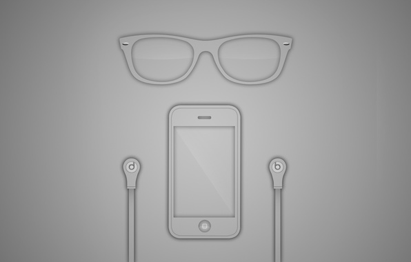 Картинка iPhone, monster beats, rayban