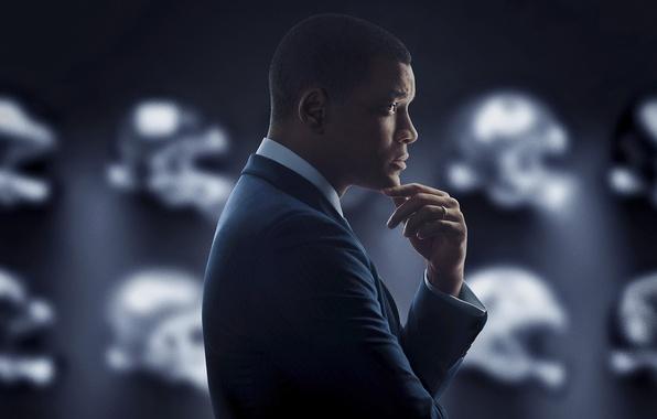 Картинка спорт, постер, драма, Will Smith, Уилл Смит, Защитник, Concussion