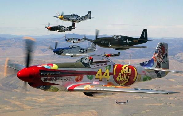 Картинка небо, полет, самолет, ландшафт, истребитель, пилот, парад, аэрография