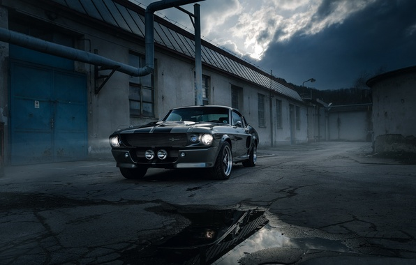 Картинка dark, shelby, gt500, street, eleanor