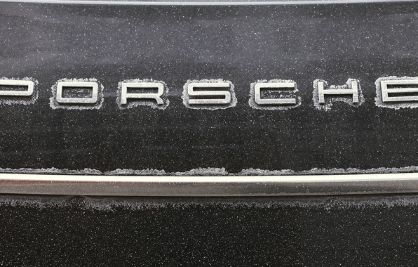 Картинка машина, снег, снежинки, металл, полоса, Porsche