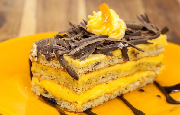 Картинка еда, шоколад, сладости, торт, пирожное, крем, десерт, сладкое, глазурь