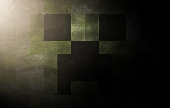Картинка игра, minecraft, creeper, моб