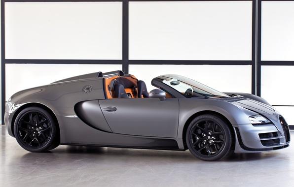 Картинка Roadster, Машина, Бугатти, Bugatti, Серый, Вейрон, Veyron, Car, Автомобиль, Grey, Grand Sport, Гранд Спорт, Vitesse, …