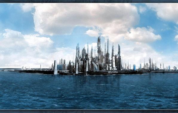 Фото обои Atlantis, море, Атлантида, фильмы, Stargate, будущее, звездные врата, фантастика