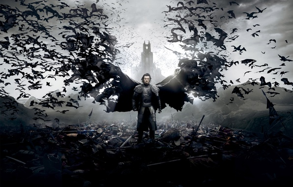 Картинка Action, Fantasy, Clouds, Sky, Legendary Pictures, Warrior, Palace, Wallpaper, Vampire, Castle, Dead, Horror, Weapon, Man, …