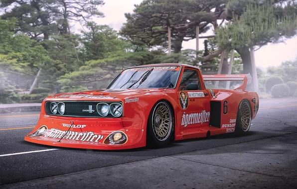 Картинка Car, Race, Datsun, Tuning, Future, by Khyzyl Saleem, 620