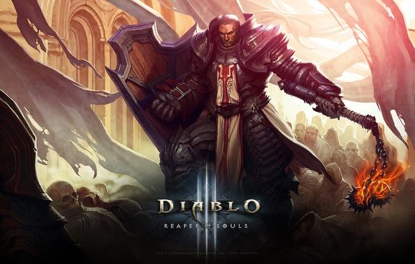 Картинка Blizzard, Паладин, Рыцарь, Diablo III, Game, Крестоносец, Reaper, Reaper of Souls, Diablo III: Reaper of …