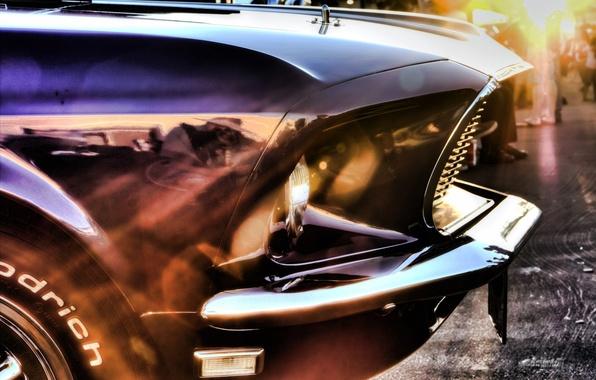Картинка car, машина, лучи, mustang, мустанг, отблеск, ford, форд, muscle