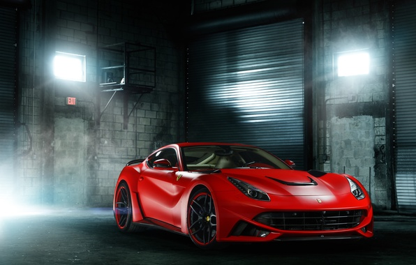 Картинка Ferrari, red, front, Berlinetta, F12