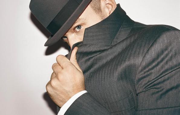 Картинка глаза, шляпа, мужчина, парень, актёр, пиджак, певец, танцор, композитор, продюсер, Justin Timberlake, Джастин Тимберлейк, не …