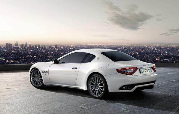 Картинка белый, Maserati, GranTurismo-S