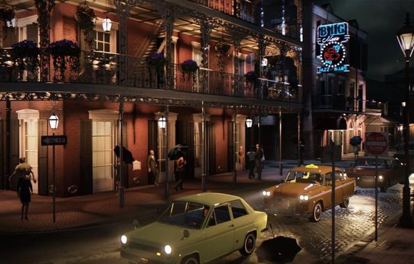 Картинка авто, город, люди, игра, Mafia III, открытый мир, Мафия 3