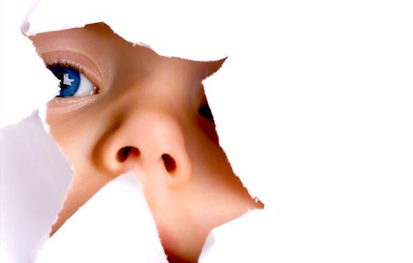 Картинка взгляд, ребенок, белый фон, голубые глаза