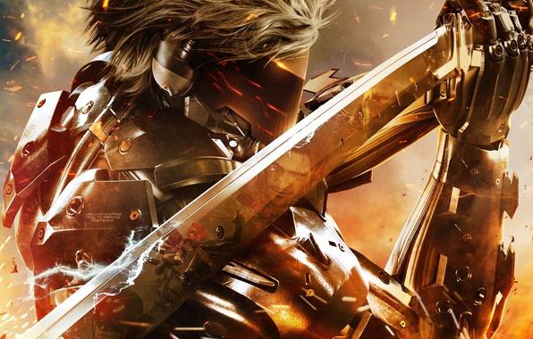 Картинка меч, маска, Metal Gear Rising: Revengeance