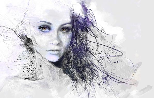 Картинка Рисунок, girl, Art