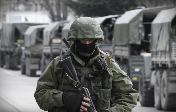 Картинка маска, солдат, автомат, шлем, Россия, Крым, военный, Республика, Балаклава, Севастополь, вежливые люди, вдв