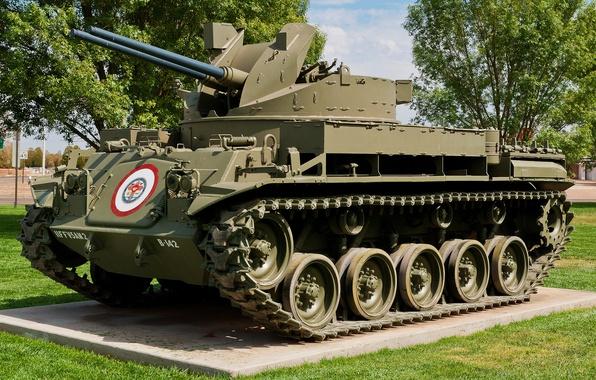 Картинка 40-мм, самоходная пушка, «Дастер», M42A1, зенитная установка, Спаренная