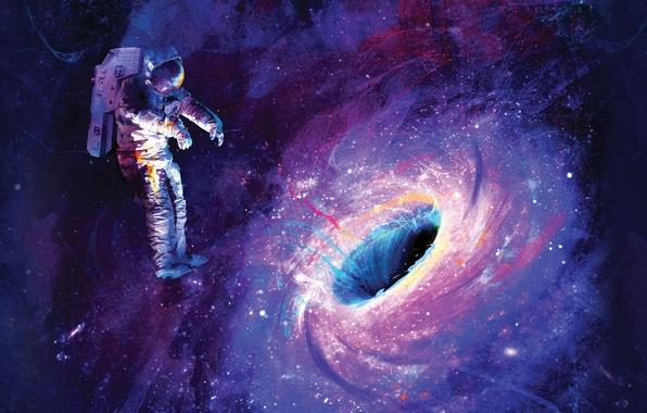 Картинка космос, скафандр, невесомость, астронавт
