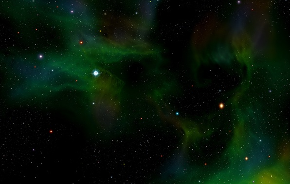 Картинка зеленый, Хаббл, телескоп, снимок