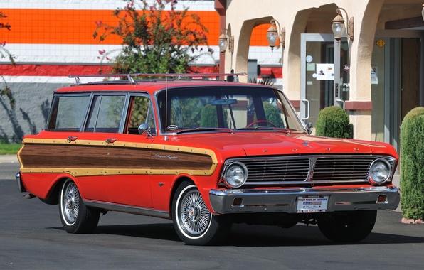 Картинка Ford, Форд, 1965, Falcon, Futura, Station Wagon, 4-door, Фэлкон