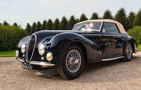 Фото обои ретро, классика, Delahaye, 1946 Delahaye 135M Cabriolet