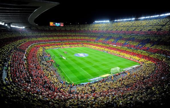 Картинка Спорт, Футбол, Испания, Барса, Стадион, Stadium, Spain, Реал Мадрид, Real Madrid, Camp Nou, FC Barcelona, …