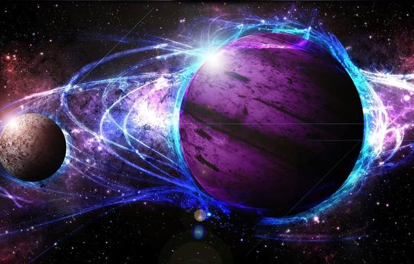 Картинка light, star, cosmos, energy, planet, galaxy