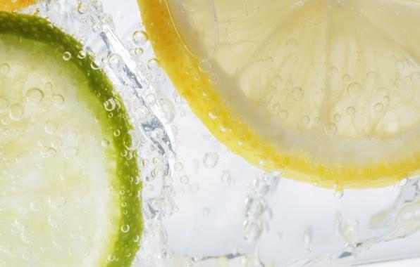 Лимон пузыри обои фото картинки