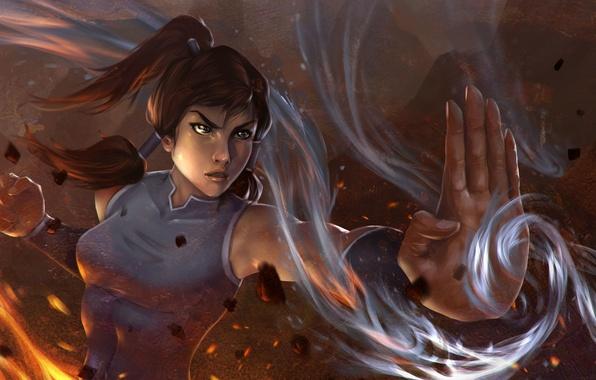Картинка вода, огонь, земля, стихия, магия, арт, воздух, аватар, Корра, Korra, The Legend of Korra, Аватар: …