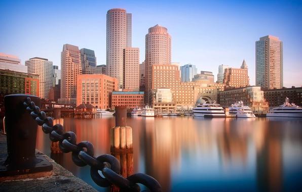 Картинка море, небо, вода, страны, города, океан, лодка, здание, корабль, окна, здания, пристань, дома, корабли, сооружение, …