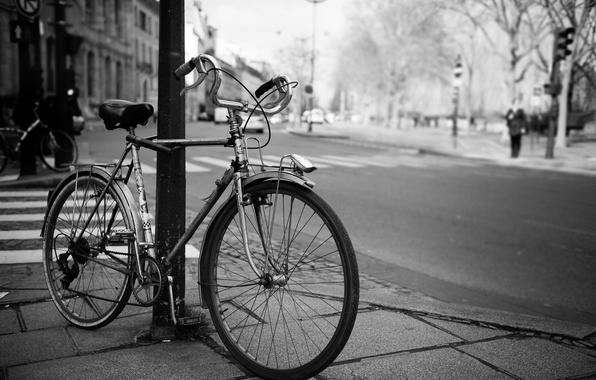 фото город черно-белое