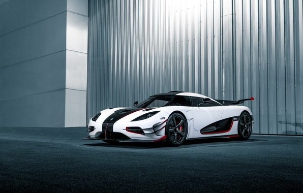 Картинка Koenigsegg, white, One