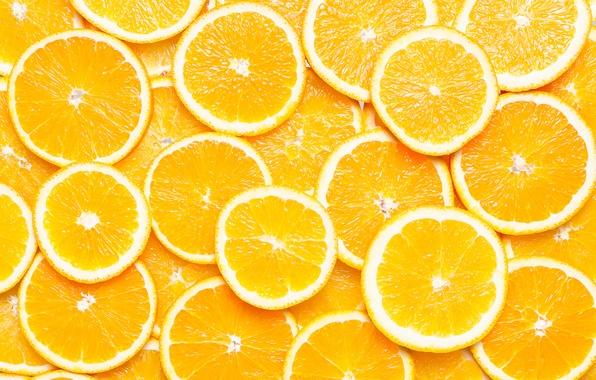 Картинка макро, апельсины, текстура, дольки