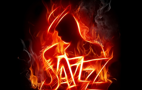 Картинка дым, Огонь, джаз