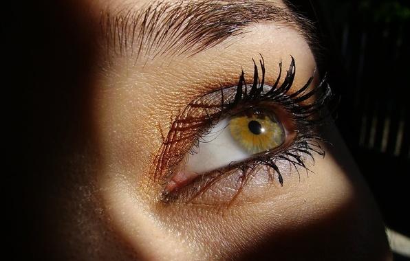 Картинка взгляд, глаз, ресницы