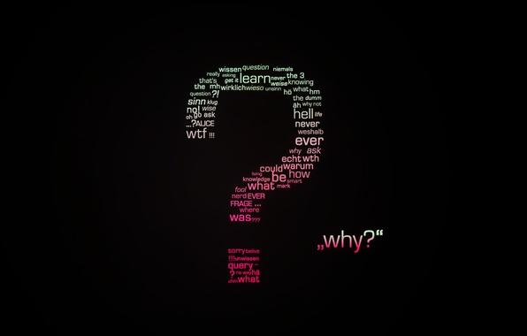 Картинка буквы, фон, обои, минимализм, арт, вопрос, слова