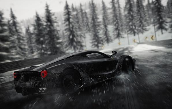 Картинка car, Ferrari, logo, drift, game, supercar, blizzard, snow, race, speed, horse, asphalt, The Crew, stallion, ...