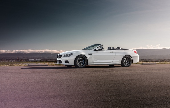 Картинка BMW, Front, White, Forged, Convertible, Wheels, Strasse